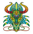 dragon coloful vector image