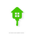 eco house and real estate logo vector image