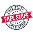 free stuff round grunge ribbon stamp vector image vector image