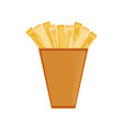 french fries in paper bag vector image
