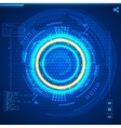 Futuristic graphic user interface vector image vector image