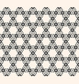 geometric hexagon seamless pattern black vector image