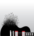 Guitar notes burst vector | Price: 1 Credit (USD $1)