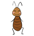 happy cockroach on white background vector image vector image