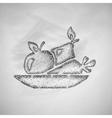 healthy food icon vector image