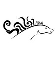 horse animal vector image vector image