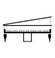 isolated piano icon musical instrument vector image vector image
