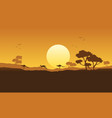 kangaroo scenery silhouette vector image vector image