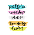 learning lettering for blog icons hand lettering vector image