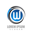 Logo concept design initial letter w symbol