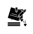 marketing portfolio black icon concept vector image vector image