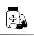 medicine icon pill icon design vector image