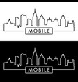 mobile skyline linear style editable file vector image vector image