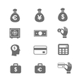 Money and coin icon set eps10 vector image vector image