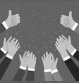 monochrome hands clapping applasure isolated on vector image vector image