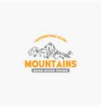 mountains logo-badge-18 vector image