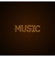 Music neon sign vector image vector image