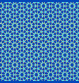 muslim pattern in blue green and gold outline vector image vector image