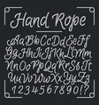 nautical letters from hand rope thread vector image vector image