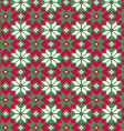 nordic seamless pattern on green vector image vector image