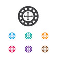 of gambling symbol on roulette vector image
