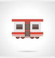 passenger rail transportation flat icon vector image