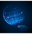 Point and curve constructed the sphere wireframe vector image