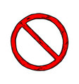 prohibition sign vector image vector image