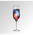 realistic of champagne glass with space vector image