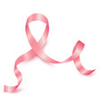 realistic pink ribbon october breast cancer vector image