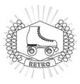 retro style icon vector image vector image
