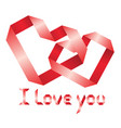 ribbon i love you vector image
