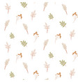 seamless foliage pattern with autumn leaves pale vector image