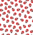 Seamless ladybug pattern vector | Price: 1 Credit (USD $1)