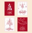 set of christmas holiday with vector image