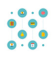 set of financial icons flat style symbols with vector image vector image