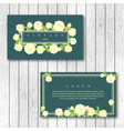 set of vintage horizontal business cards template vector image vector image