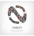 stability people sign 3d vector image