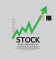 Stock Shares Raise Up vector image