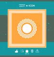 sun symbol icon vector image vector image