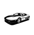 supercar black white flat design modern sport car vector image