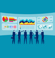 teamwork and data analysis concept business vector image