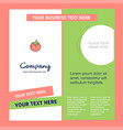 tomato company brochure template busienss template vector image