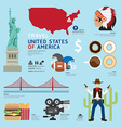 Travel Concept USA Landmark Flat Icons Design vector image vector image