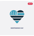 two color independence day icon from united vector image