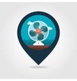 Ventilator pin map icon Summer Vacation vector image vector image