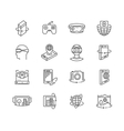 Virtual reality technologies icon set