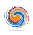 abstract swirly colors icon vector image vector image