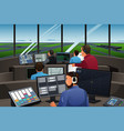 air traffic controller working in the airport vector image
