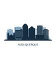 albuquerque skyline monochrome silhouette vector image vector image